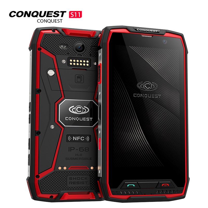 Conquest S11 Shockproof Smartphone IP68 Waterproof 6GB RAM+128GB